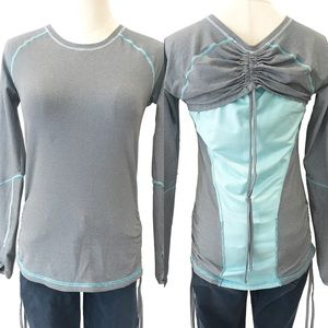 Lucy Activewear Dashing Striped Top Long Sleeves